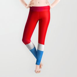 Colorful Bright Minimalist Rothko Midcentury Modern Art Vintage Pop Art Neon Red Cerulean Blue Leggings