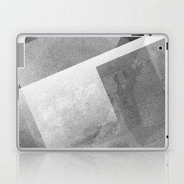 Black and Metallic Silver - Digital Geometric Texture Laptop & iPad Skin