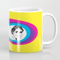 virginia Mugs featuring Virginia Woolf by Mohac