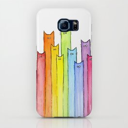 Rainbow of Cats Funny Whimsical Colorful Cat Animals iPhone Case