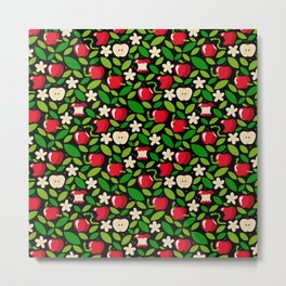 apple bloom and apple fruit Metal Print