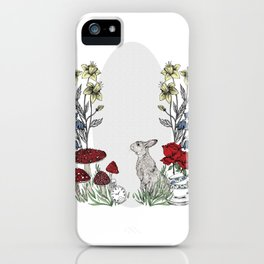 Rabbits Tea Party iPhone Case