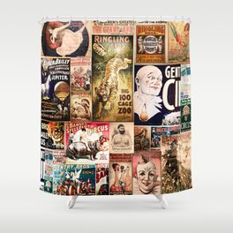 Circus Collage Shower Curtain