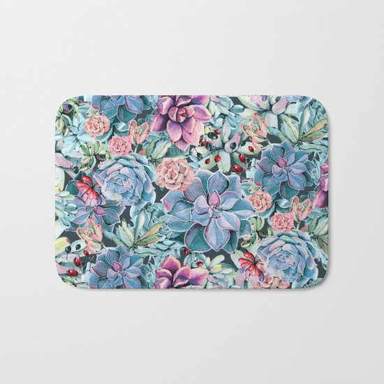 Succulents - For the Memory of a Never-ending Love Bath Mat