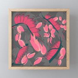 Red Linear Tree Framed Mini Art Print