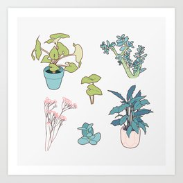 Houseplants Art Print