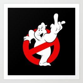 Ghostfinger Art Print