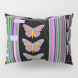 Butterfly Morph Black Box Pillow Sham