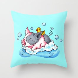 Bath Time! Throw Pillow