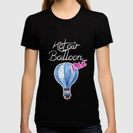 Hot Air Balloon Pilot Oxygen Sky Event Circle Gift T-shirt