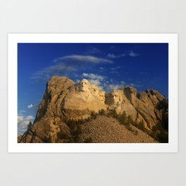 Sunrise over Mount Rushmore National Memorial. Art Print