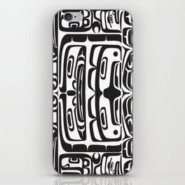 Bentwood Box Black Formline iPhone Skin