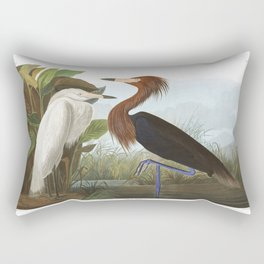 Purple heron, Birds of America, Audubon Plate 256 Rectangular Pillow