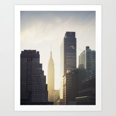 Empire State Building at Dawn Art Print