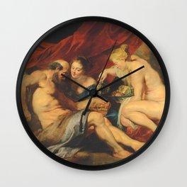 Peter Paul Rubens - Lot and his Daughters Wall Clock