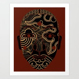 red mask Art Print