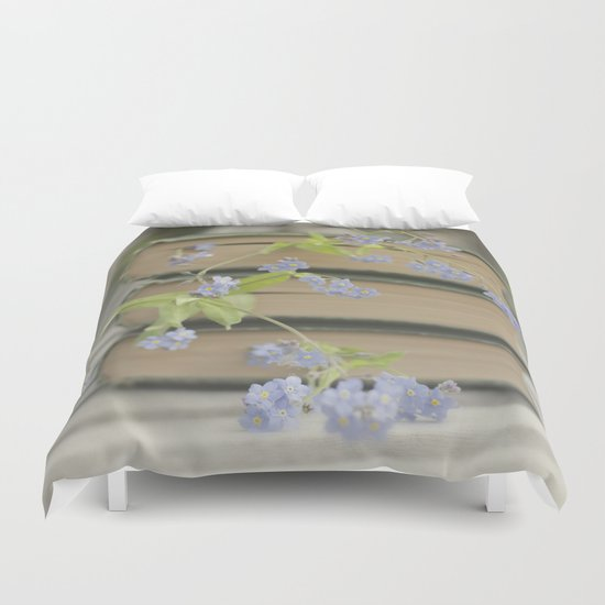 Forget Me Not Bookmark Duvet Cover