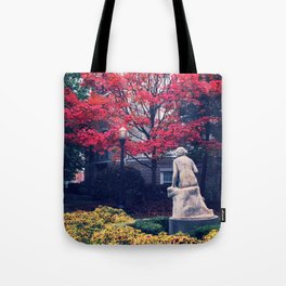 Courtyard in the Fall Tote Bag