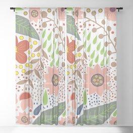 Fabulous spring flowers Sheer Curtain