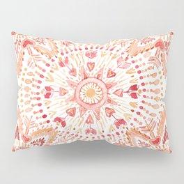 WARRIOR FIRE Watercolor Mandala Pillow Sham