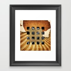 SQUARE AMBIENCE Framed Art Print