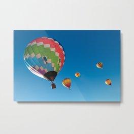 Balloons on Blue Metal Print