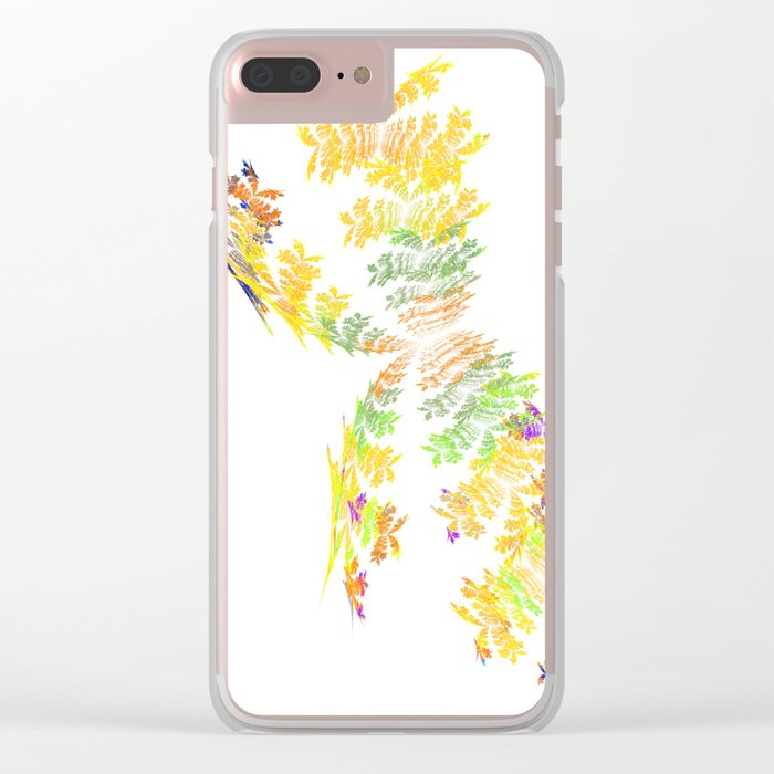 yellow butterfly Clear iPhone Case