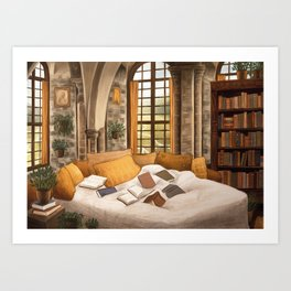 Hufflepuff home Art Print
