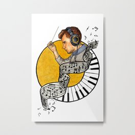 The Conductor Metal Print