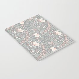 Sleeping Fox - grey pattern design Notebook