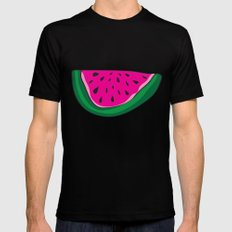 Watermelon Black SMALL Mens Fitted Tee