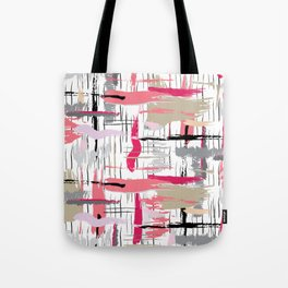 Pink Brushstroke Tote Bag