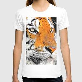 Tiger face closeup drawing T-shirt