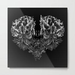 Paper Metal Heart  Metal Print