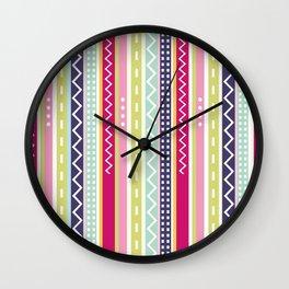 Stripes Chevron Wall Clock