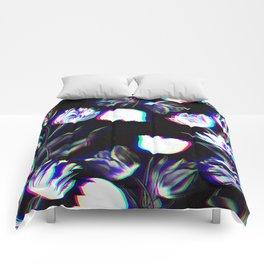 Bed of Tulips (B&W) Comforters