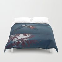constellations Duvet Covers featuring Constellations by Ramona Treffers