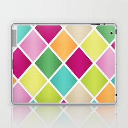 Modern Diamond Geometric Pattern Design // Pink Orange Green Blue Laptop & iPad Skin