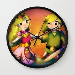 Zelda & Link  Wall Clock