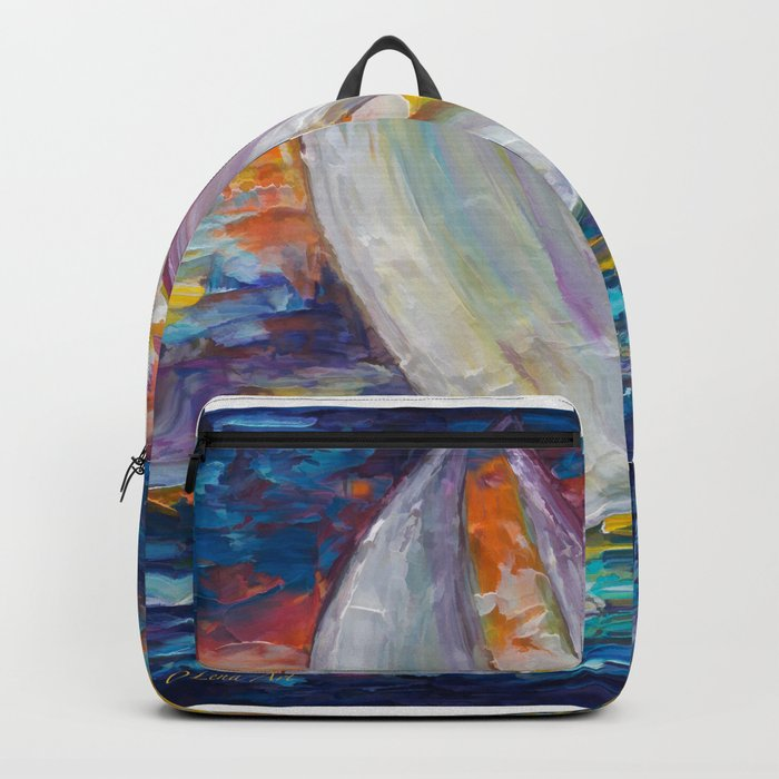 Sailing Boat by Lena Owens Backpack