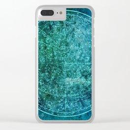 Zodiac Star Map Clear iPhone Case