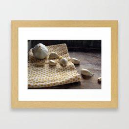 Garlic - Kitchen Witch 2 Framed Art Print
