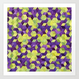 Triaxial Blossoms and Dots Art Print