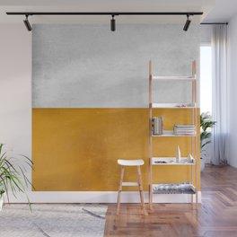 Wabi Sabi - Gold and Grey Texture Wall Mural
