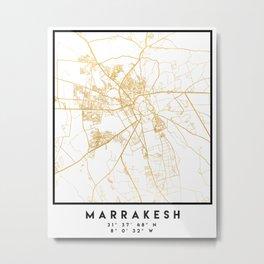 MARRAKESH MOROCCO CITY STREET MAP ART Metal Print