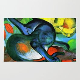 """Franz Marc """"Two Cats, Blue and Yellow' Rug"""