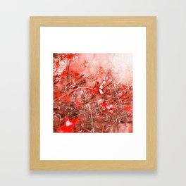 Bright Coral Floral Framed Art Print