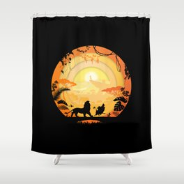 Circle of life Shower Curtain