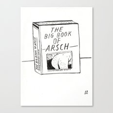 The Big Book Of Arse Canvas Print