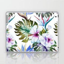 Watercolor Tropical Hibiscus Laptop & iPad Skin